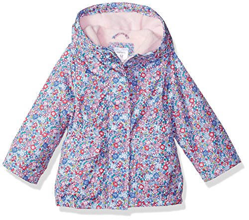 Carter's Baby Girls Fleece Lined Anorak Jacket, Disty Floral, 18M