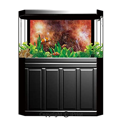 Amazon com : Aquarium Decoration Background, Space Decorations