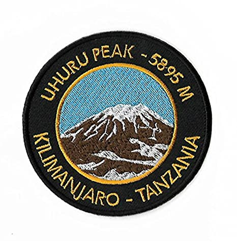 "Parche bordado para planchar, ""Pico Uhuru, Kilimanjaro, Tanzania"", de"
