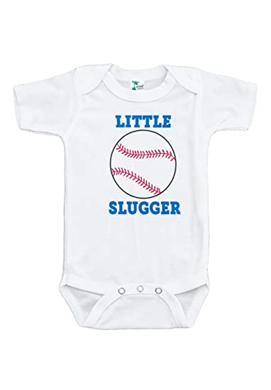 3adad3a24d671 Custom Party Shop Baby Boy s Little Slugger Baseball Onepiece 0-3 Months  Red and Blue