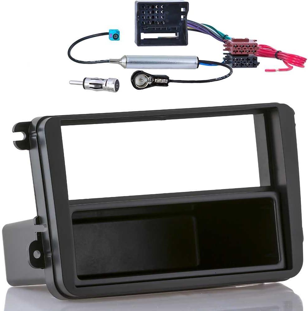 Kit De Montage Radio Voiture 1 Din Panneau Adaptateur convient pour VW Fox