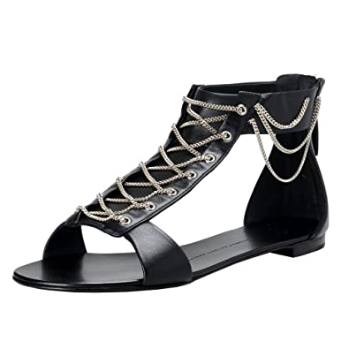 0c22afc31e48c Giuseppe Zanotti Design Women s Leather Ankle Strap Sandals Shoes US 6 IT  36  Black