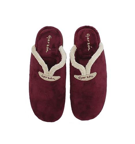 Garzón - Zapatillas de casa Abiertas en Burdeos - Burdeos, 36: Amazon.es: Zapatos y complementos