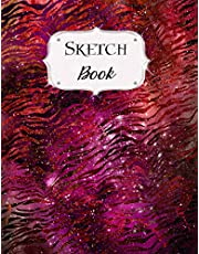 Sketch Book: Animal Print | Sketchbook | Scetchpad for Drawing or Doodling | Notebook Pad for Creative Artists | #3 | Red Black
