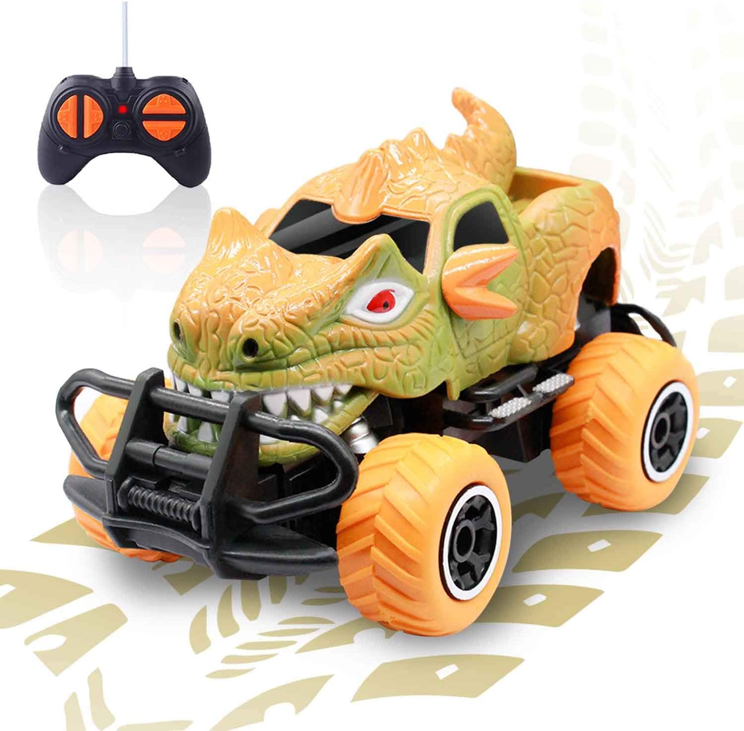Amazon Com Dinosaur Rc Car Toys For 4 Year Old Boys Remote Control Cars Park Jurassic Toys For Toddlers Dino Rc Cars For Boy Toys 4 Years Old Birthday Gift For Age 3 Kids