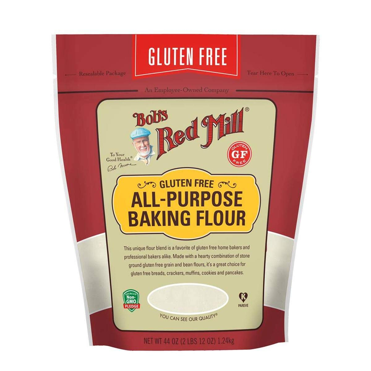 Bob's Red Mill (Resealable) Gluten Free All Purpose Baking Flour, 44-ounce (Pack of 4) by Bob's Red Mill