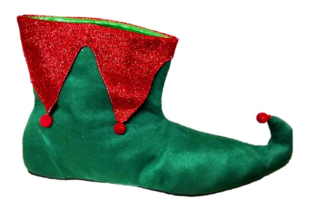 Santa's Helper Elf Shoes Adult Womens Christmas Red Green Slippers SM-XL Shaboom