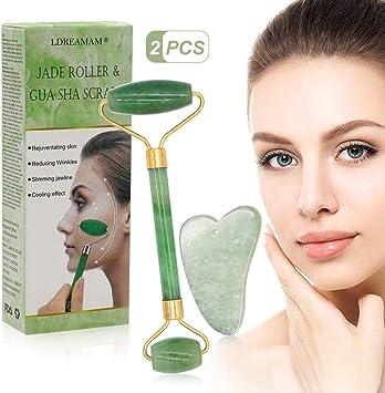 Gesichtsmassager Jade Roller 100/% natürliche Jade Stone Roller ... Jade Roller