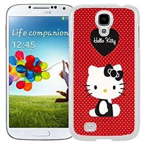 NEW Unique Custom Designed Samsung Galaxy S4 I9500 i337 M919 i545 r970 l720 Phone Case With Red Hello Kitty_White Phone Case