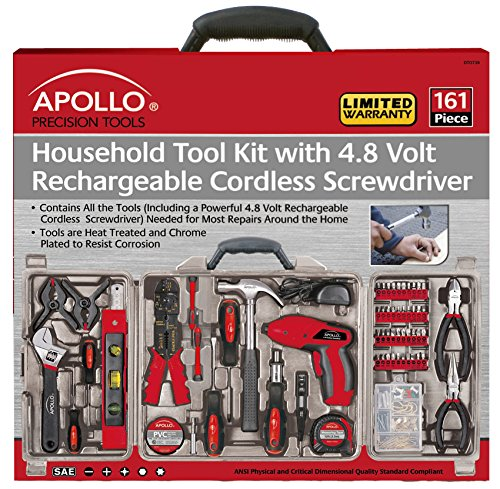 Apollo Tools DT0738 161 Piece Complete Household Tool Kit ...