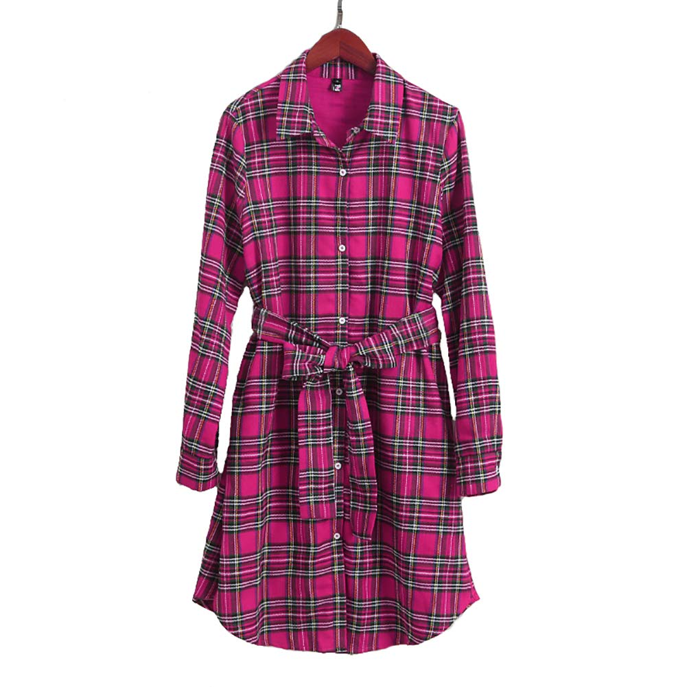 63ab3c25c Amazon.com: PopReal Mommy and Me Plaid Self Tie T-Shirt Dress Family  Matching Clothes: Clothing