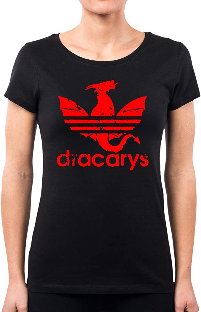 PACDESIGN T-Shirt Uomo Game of Thrones Dracarys Il Trono di Spade Serie TV PD1576A