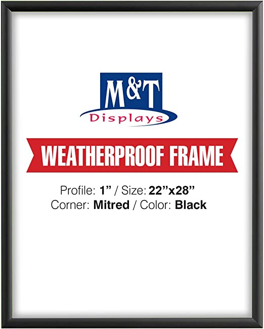 Case of 10 MT Displays Mitered Corner Snap Picture Frame 22 x 28 Silver
