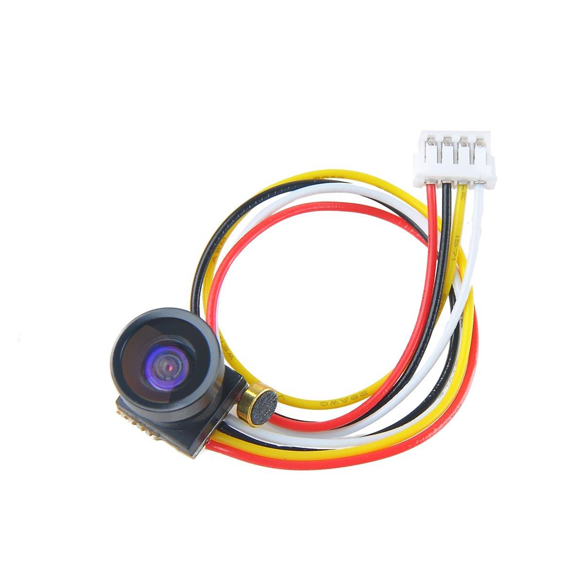 Crazepony FPV Camera 1.2G 1000TVL 1/4 CMOS 2.8mm Lens FOV170 Degree NTSC Mini FPV Camera by Crazepony