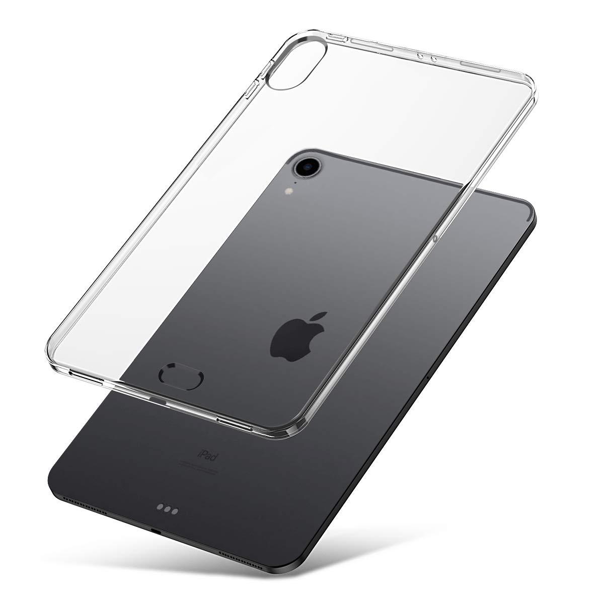 J&D Compatible para iPad Pro 12.9 2018 Funda, [Cojín Delgado] [Parachoques Ligero] [Transparente] Resistente Tablet Clear Funda TPU Caucho Protectora ...