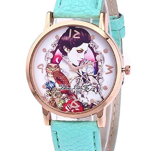 Scpink Relojes con diseño de niña para Mujer b7597092801e