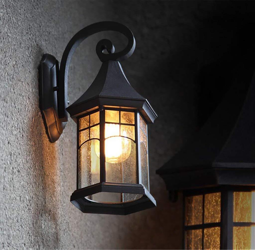 YANG Lampada da Parete Vintage Lampada da Parete per Esterni retrò Illuminazione per Esterni Impermeabile Europea Luce da Giardino per Esterni Lampada da Parete per Esterni con Scala Americana
