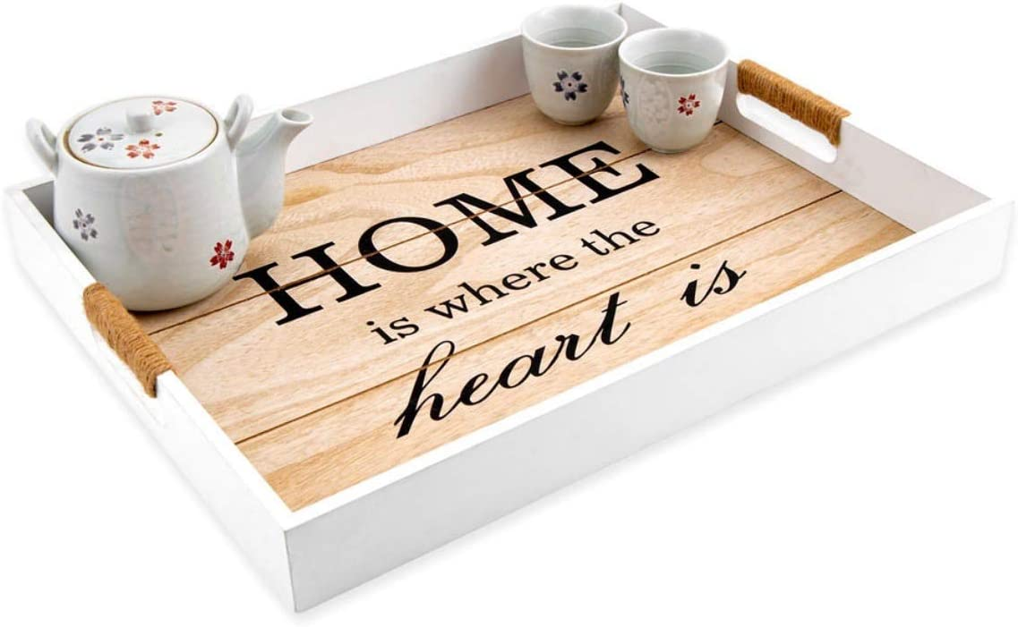 Sohan Decorative Coffee Table Tray, Tea Tray, Food, Breakfast, Tray for Your Family- With Handle (18
