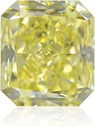 1.02 Carat Fancy Yellow Loose Diamond Natural Color Radiant Cut GIA Certified