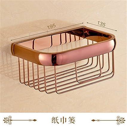 Euro-Cobre Oro Rosa Toalla de baño Hardware de Montaje en Bastidor se empaqueta toallero