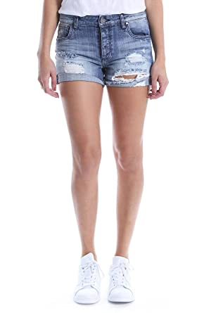 03bd4c41c0a KUT from the Kloth Women s Madeline Boyfriend Ripped Denim Shorts  (Instructed