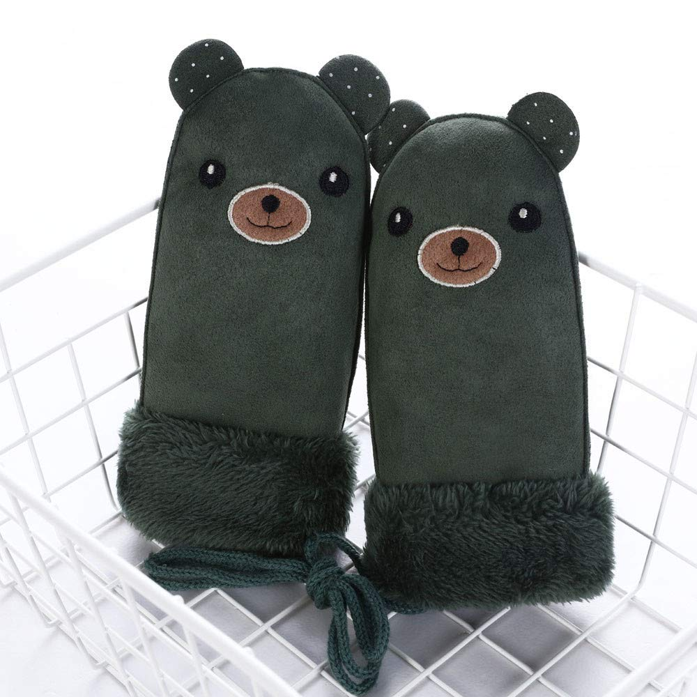 Unisex Little Kids Cartoon Bear Winter Thick Warm Gloves Mittens with String TM Unisex Little Kids Cartoon Bear Winter Thick Warm Gloves Mittens with String Jchen TM Pink Little Kids Winter Gloves,Jchen