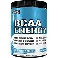 Evlution Nutrition BCAA Energy - High Performance, Energizing Amino Acid Supplement for Muscle Building, Recovery, and Endurance (30 Servings) Blueberry Mojito