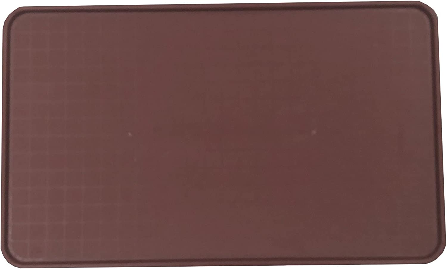 Resilia Pet Food Mat and Boot Tray - Lipped edge to contain spills, Burgundy, 17 inches x 28 inches