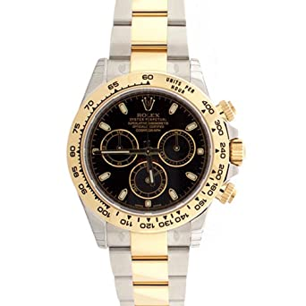 Image Unavailable. Image not available for. Color  Rolex Cosmograph Daytona  Black Dial ... 07601c0bec8