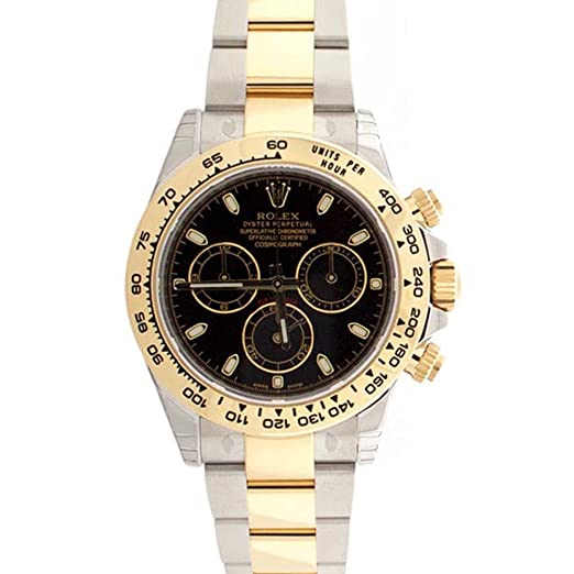 Rolex Cosmograph Daytona negro Dial Oro y Acero Reloj para hombre 116503: Amazon.es: Relojes