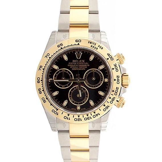 Rolex Cosmograph Daytona negro Dial Oro y Acero Reloj para hombre 116503