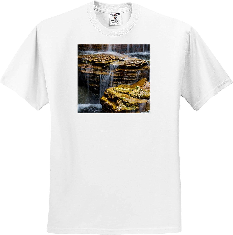 3dRose Waterfall at Chi Lin Nunnery and Nan Lian Garden, Hong Kong, China. - T-Shirts (ts_329476)