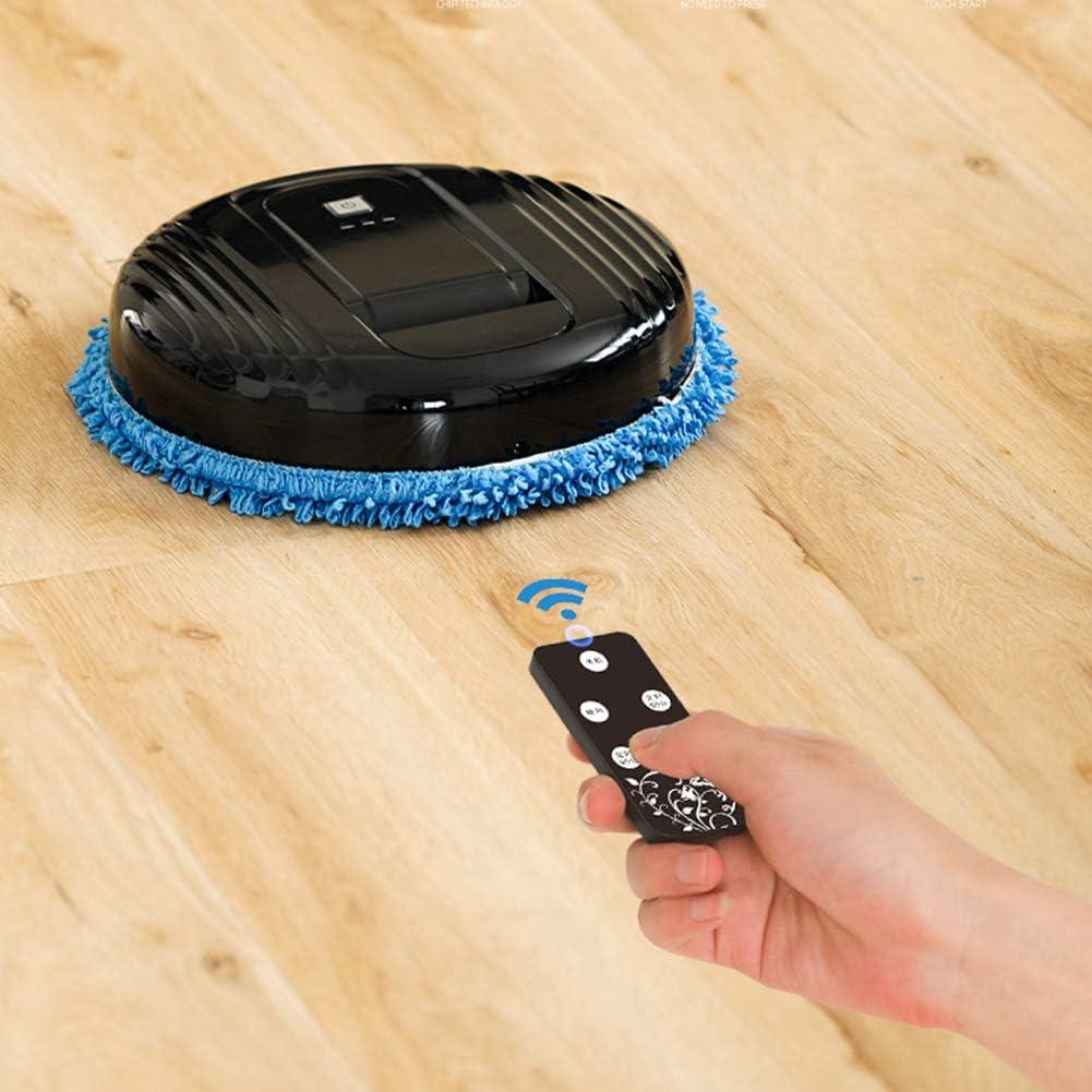 LAHappy Aspirateur Robot Machine Nettoyage avec Fonction de télécommande et Lampe Germicide idéal pour Les Poils d\'animaux Tapis Sol Dur,Blanc White
