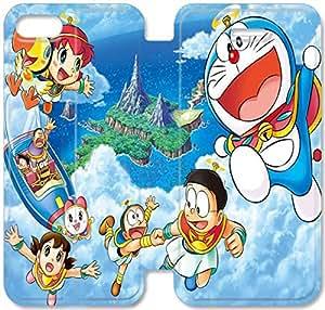 Screen Protection Phone Cases Doraemon-16 iPhone 6/6S Plus 5.5 Inch Leather Flip Case
