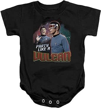 Star Trek Boys' Party Like A Vulcan Bodysuit Black