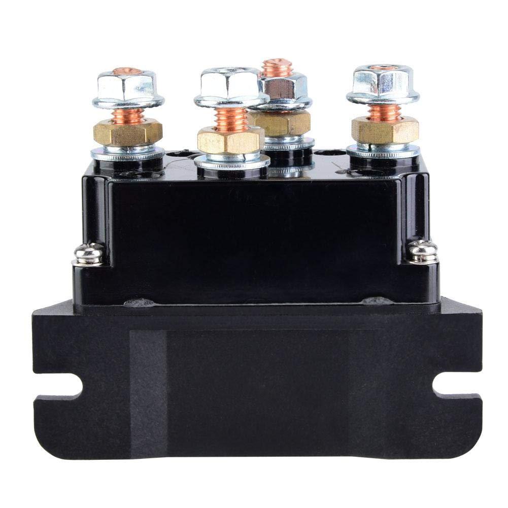 Solenoide Verricello,Kit rel/è solenoide controllo verricello contattore 12V 500A Doppia ripresa remota wireless