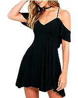 Eloise Isabel Fashion strap dress plus size mulheres sexy verão vestido de praia cor sólida feminino