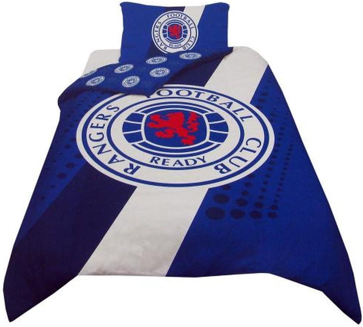 Rangers Fc Stripe Crest Single Duvet Bedding Set Amazon Co Uk Sports Outdoors