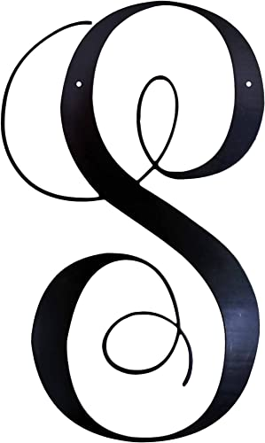 22 Inch Metal Script Letter S Door or Wall Hanging