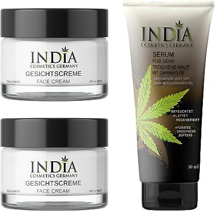 NUEVO. Cara Crema Pack Doble con Cannabis aceite en calidad ...