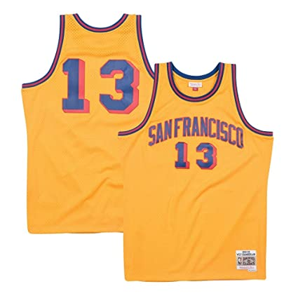 c14cbc241d7 Mitchell   Ness Wilt Chamberlain San Francisco Warriors 1962-63 Swingman  Jersey (Small)