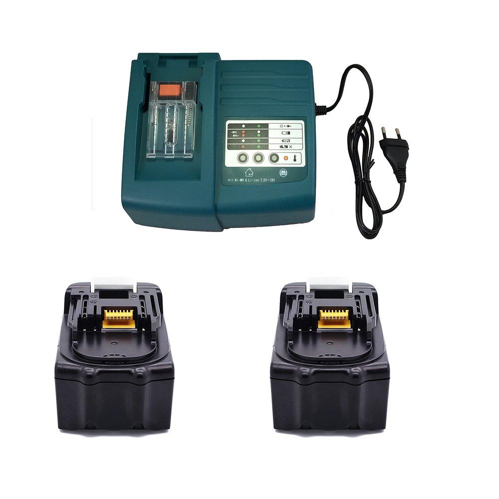 Batería y cargador DC18RC para Makita BL1830, BL1840, BL1430 ...