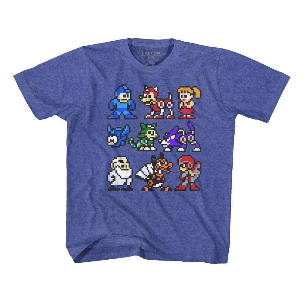 Mega Man Capcom Video Game The Cast Whole Gang Crew Vintage Toddler T-Shirt Tee