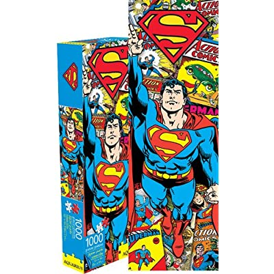 Aquarius Superman Retro Slim 1000 Piece Jigsaw Puzzle: Toys & Games
