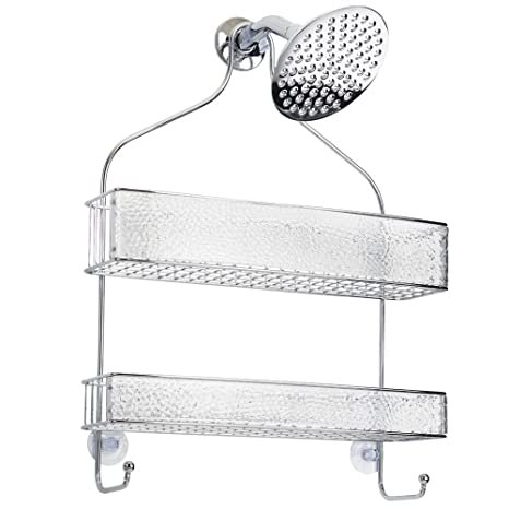 Amazoncom Interdesign Rain Hanging Shower Caddy Wide Bathroom
