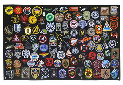 Antrix Tactical Morale Velcro Patch Holder Patch Panel Patch Wall Display Board Patch Hang Display Poster Frame Velcro Board Military Hook and Loop Backing Patch Hang Board Panel - 43.5x27.5
