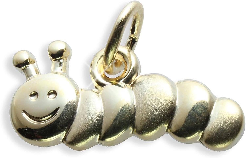 Raupe W/ürmchen Charms Anh/änger echt 14 Karat Gold 585 Art.206011