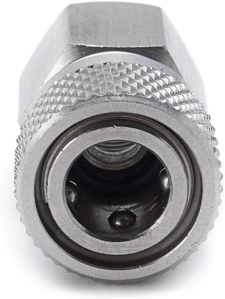 Quick Connectors Paintball PCP Carabine /à air comprim/é /à d/égagement Rapide Disconnect Coupler Femelle raccord Rapide de Charge Adaptateur Socket 1//8 BSP Femelle Universel
