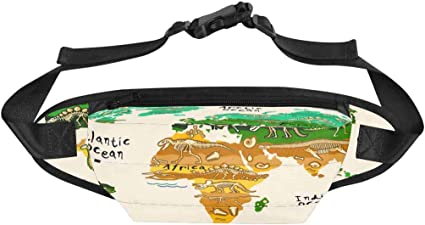 Dinosaur Ski Sport Waist Bag Fanny Pack Adjustable For Hike