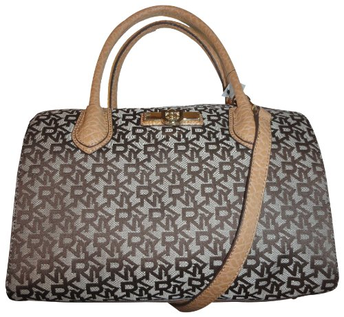 Women's DKNY Purse Handbag Beekman TandC with French Grain Leather Chino/Light Tan, Bags Central